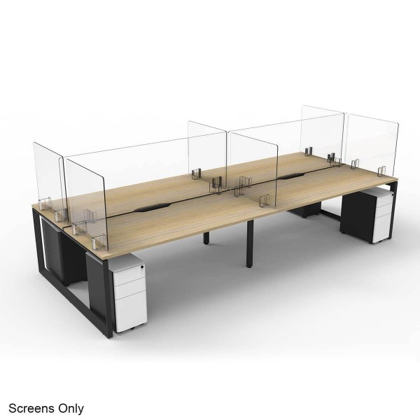 Sneeze & Cough Guard Shield Clear Acrylic Barrier Protection Desk Counter Workstation Screens