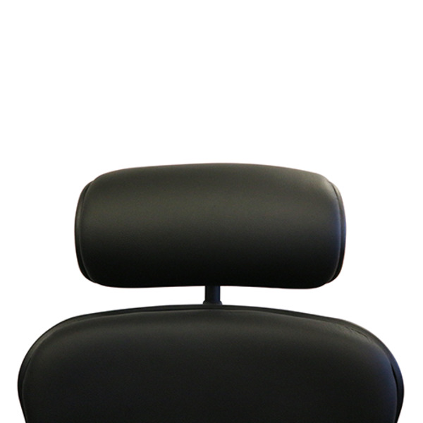 Ergohuman V1 Deluxe 100% Genuine Black Leather Executive Chair with Head Rest