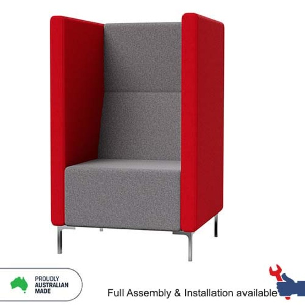 Yara Standard Soft Seating Acoustic Winged Private Booth Lounge System