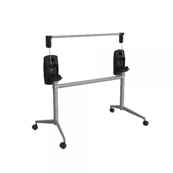 Uni Flip Table Folding Top Mobile Tables Metal Frame 250kg Weight Rated