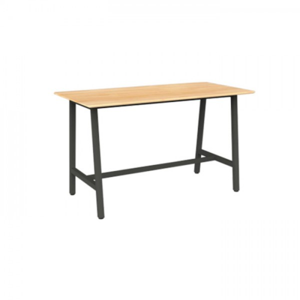 Trestle Table Bar Leaner + 4 Chairs Combo