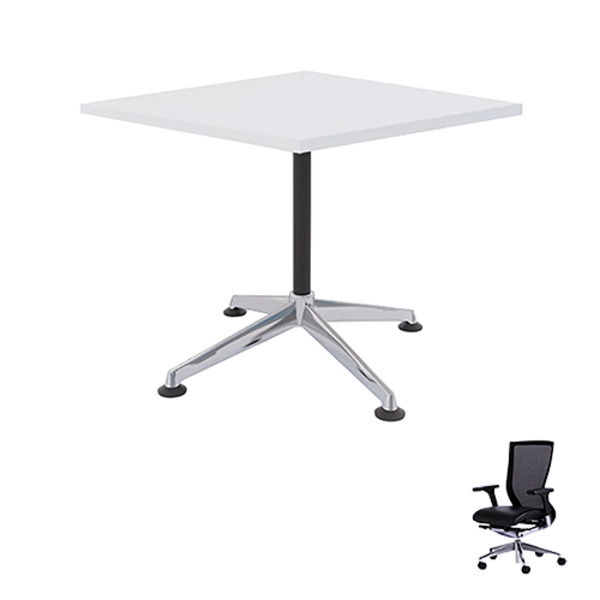 Modulus Square Meeting Table 900 + 4 Chairs Combo