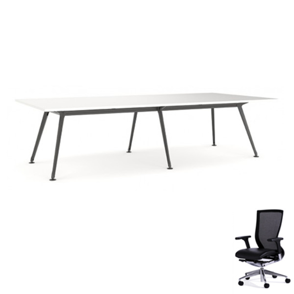 Modulus Team Meeting Table 3600 X 1200 + 12 Chairs Combo