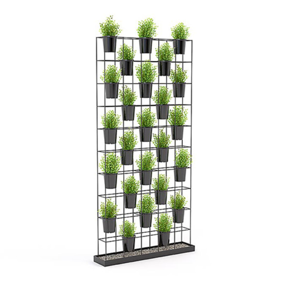 Axis Office Decorative Partition Planter Wall Divider Partition With Imitation Plants