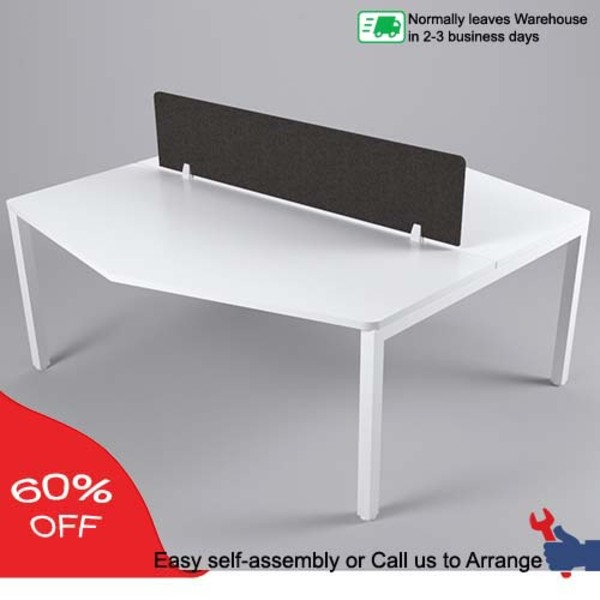 Axis Three Corner Double Sided 2 Person Workstation *Screen Not Included* *Clearance Price*