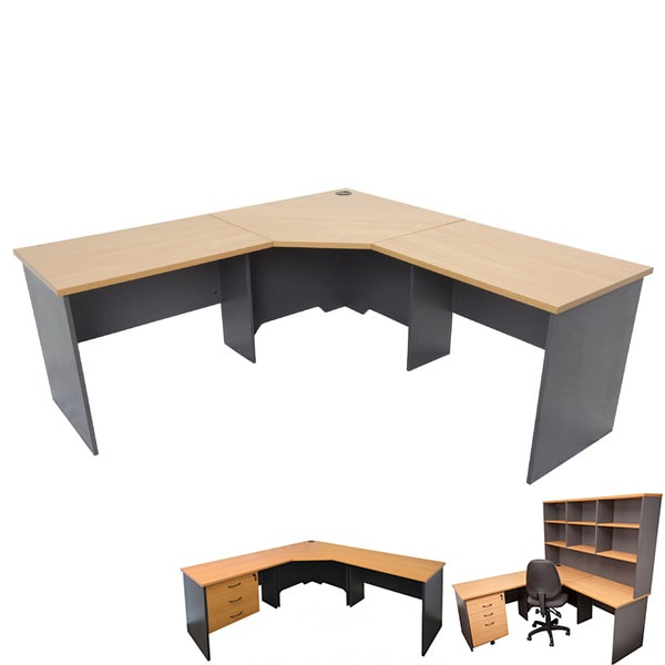 Fast Corner Desk Office Workstation Optional Storage