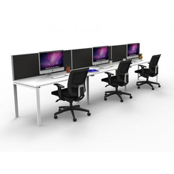 Rapid Infinity 1200x700 Workstation Single Sided With Screens - Profile Leg