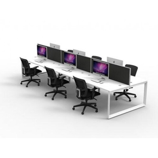 Rapid Infinity 1200x700 Workstation Double Sided With Screens - Loop Leg