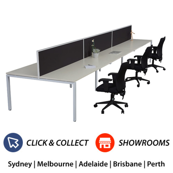Rapid Infinity 1200 x 700 Workstation Double Sided With Screens - Profile Leg