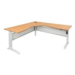 Rapid Span Corner Electric Height Adjustable Workstation Sit Stand Desk