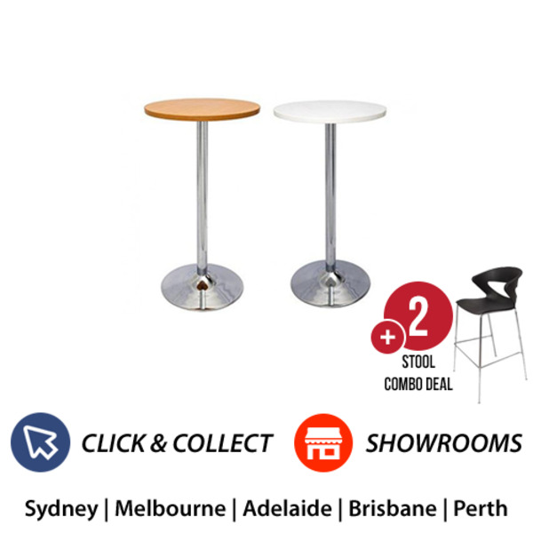 Dry Bar Round Table + 2 Bar Chairs Combo