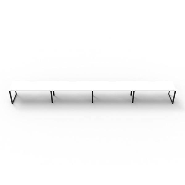 Deluxe Rapid Infinity Straight Single Sided Workstation - Loop Leg
