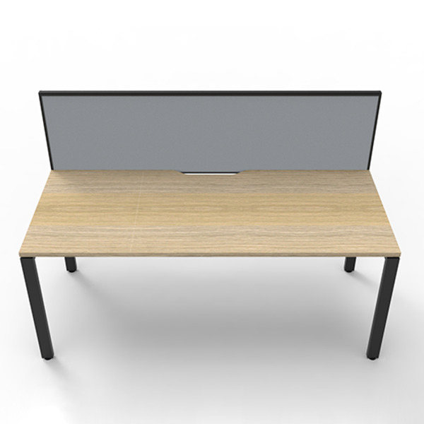 Deluxe Rapid Infinity Straight Single Sided Workstation with Screen - Profile Leg