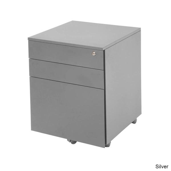 Mobile Metal Pedestal 3 Drawer Steel Filing Storage