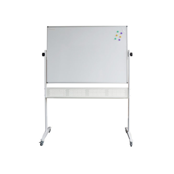 Standard Magnetic Double Sided Pivoting Whiteboard With Pen Tray