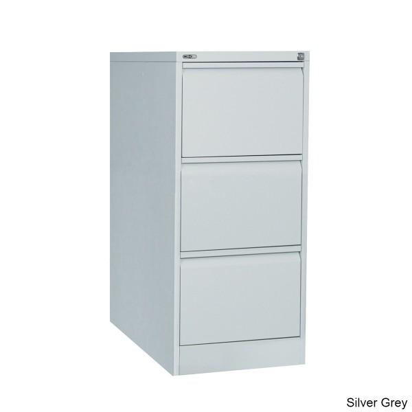 GO 3 Drawer Vertical Steel Filing Cabinet,