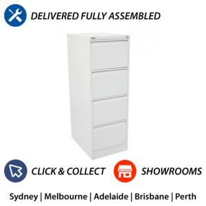 GO 4 Drawer Heavy Duty Filing Cabinet Steel Vertical File Storage