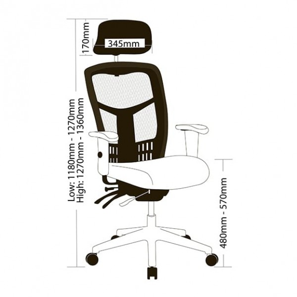 Oyster Mesh High Back Ergonomic Executive Gaming Office Chair Arms & Headrest