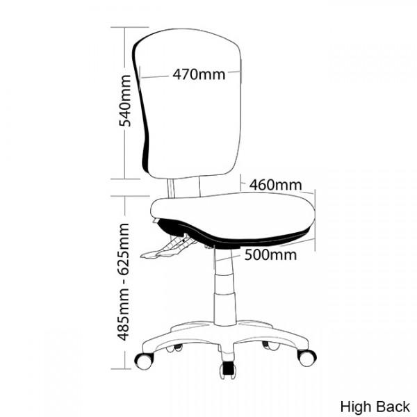 Aqua Ergonomic Office Task Chair Posture Correct Lumbar Back Support