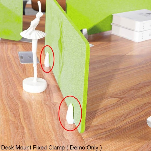 Clear Acrylic Barrier Protection Sneeze & Cough Guard Shield Desk Counter Workstation Screens