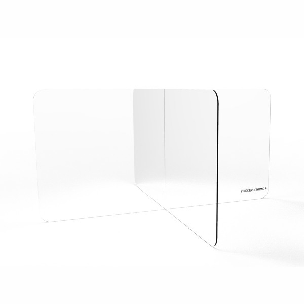 4 Way Clear Acrylic Dividers Barrier Protection Sneeze & Cough Guard Shield Desk Workstation Screens