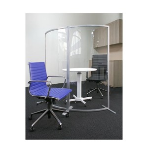 Free Standing Curved Wave Transparent Screen Guard Partition Divider