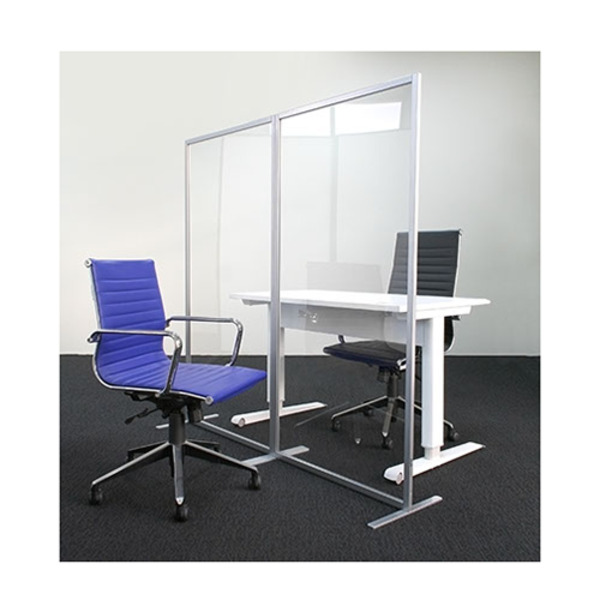 Free Standing Straight Transparent Screen Guard Partition Divider