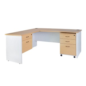 Logan Home Office Desk with Return and Storage