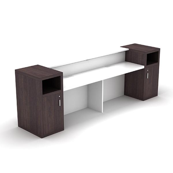 Aston Reception Counter Desk Hob Caesar Stone & Teak Timber