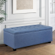 Premium Storage Ottoman - Blue