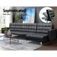 Stratford PU Leather Sofa Bed 5 Seater
