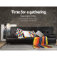 Glengowrie 3 Seater PU Leather Sofa Bed with 2 Cup Holder