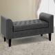 Artiss Fabric Storage Ottoman - Grey