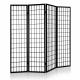 4 Panel Room Divider Partition Screen - Black