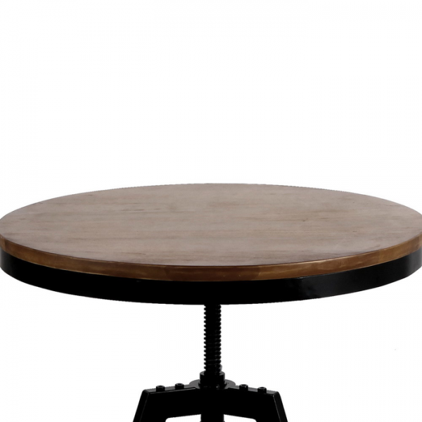 Elm Wood Height Adjustable Round Dining Cafe Table