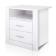 Anti-Scratch Bedside Table 2 Drawers