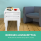 Set of 3 Wooden Coffee Table Gloss White