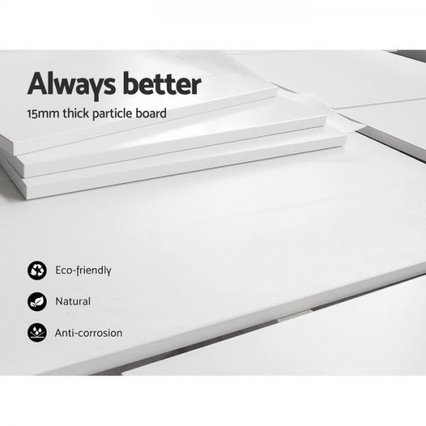 3 Piece Cube Bookshelf White