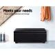 Artiss Faux PU Leather Storage Ottoman - Black