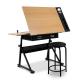 Tilt Drafting Table with Stool