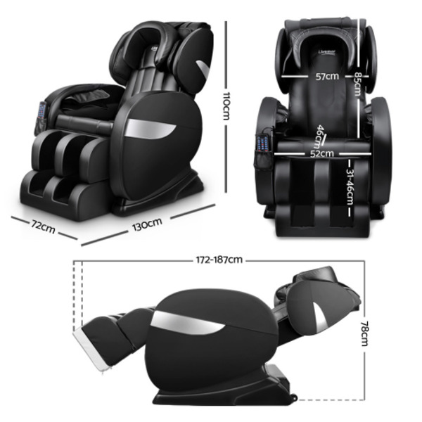 Livemor Recliner Auto Extension 3 speed Levels Electric Massage Chair