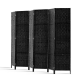 Artiss 6 Panel Wooden Office Room Divider Partition Screen - Black