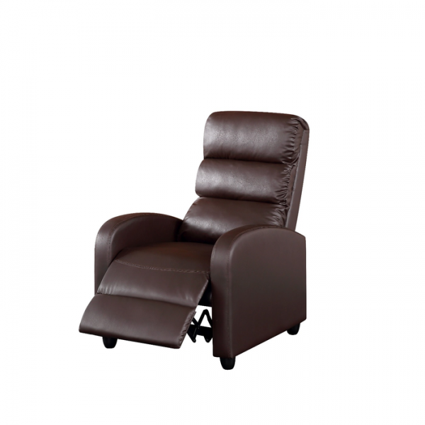 Luxury PU Leather Recliner Chair Armchair - Brown