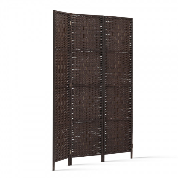 Artiss 3 Panel Room Divider Partition Screen - Brown