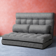 Artiss Lounge Two Seater Sofa Bed Floor Folding Fabric Grey