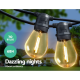 Jingle Jollys Clear Glass Bulb LED Festoon String Lights -70