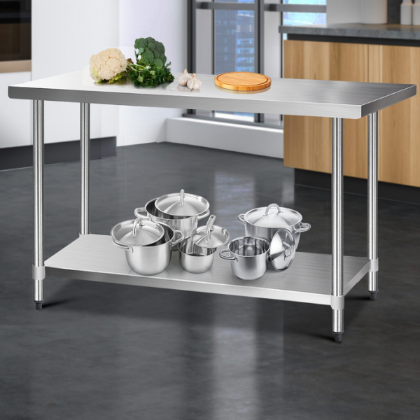 Cefito 1524 x 762mm Commercial Stainless Steel Bench