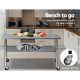 Cefito 430 Stainless Steel Bench Food Prep Table with Wheels