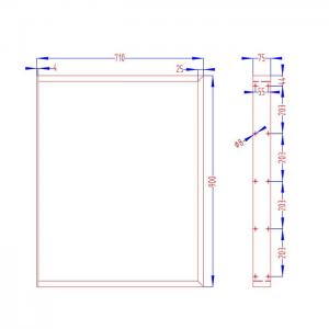 2x Coffee Dining Steel Table Legs Industrial Vintage Bench Metal Box Shape 710MM