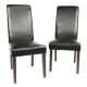Swiss Wooden Dining Chairs Black 2x